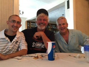 with Bill Lee and Lenny Clarke at Sandy Burr Country Club in Wayland, MA