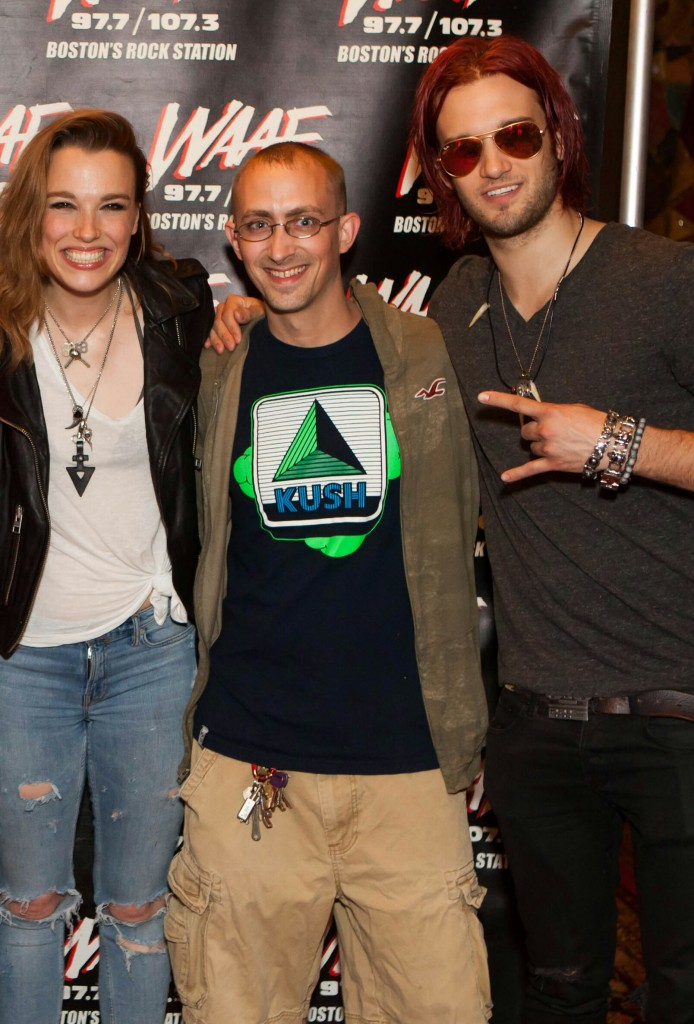 with Lzzy and Arejay Hale at the House of Blues